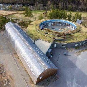 Dronebilde Nordland nasjonalparksenter